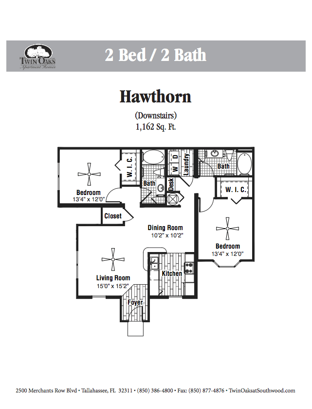 2 Bedrooms 2 Bathrooms Apartment for rent at Twin Oaks Southwood in Tallahassee, FL