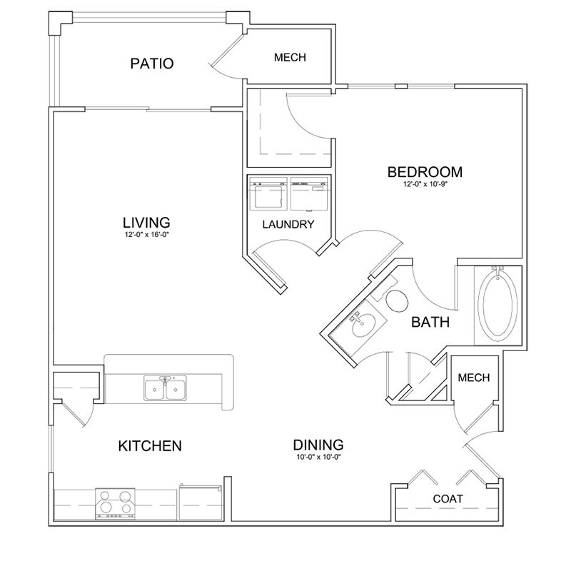 1 Bedroom 1 Bathroom Apartment for rent at The Park At Southwood in Tallahassee, FL