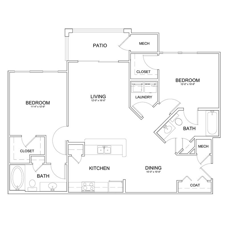 2 Bedrooms 2 Bathrooms Apartment for rent at The Park At Southwood in Tallahassee, FL