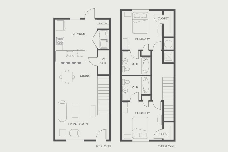 2 Bedrooms 2 Bathrooms Apartment for rent at Woodlands On West Tennessee in Tallahassee, FL