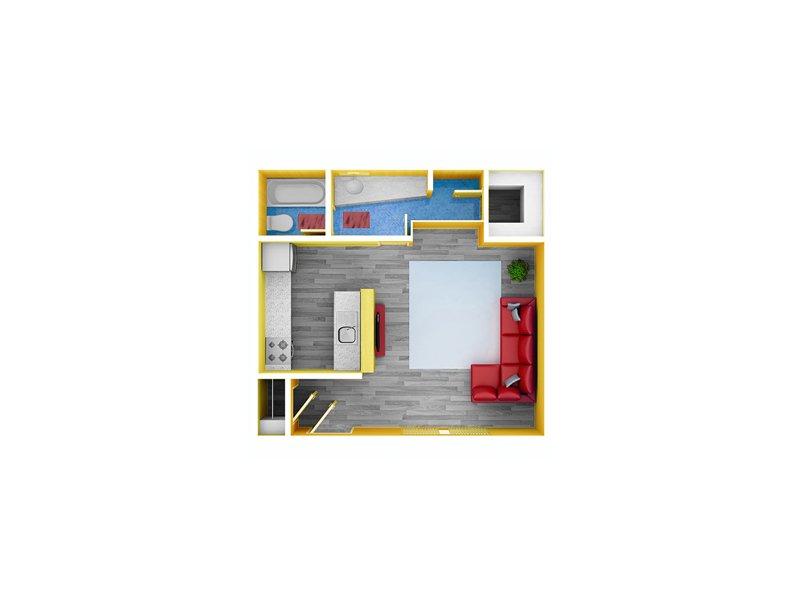 Studio 1 Bathroom Apartment for rent at Northwest Corners in Houston, TX