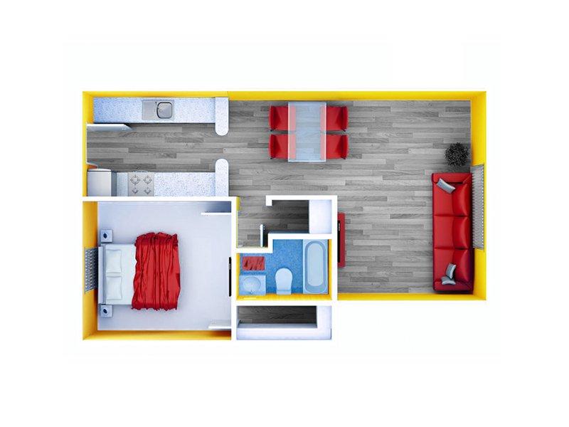 1 Bedroom 1 Bathroom Apartment for rent at Northwest Corners in Houston, TX