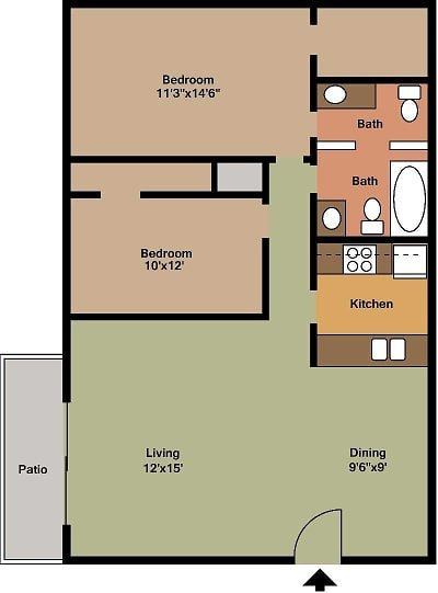 2 Bedrooms 2 Bathrooms Apartment for rent at Pineforest Park & Place Apartments in Houston, TX