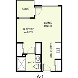 Studio 1 Bathroom Apartment for rent at The Marquette in East Lansing, MI