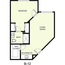 1 Bedroom 1 Bathroom Apartment for rent at The Marquette in East Lansing, MI