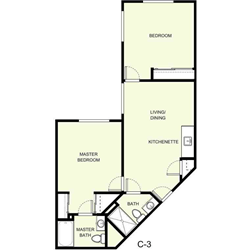 2 Bedrooms 2 Bathrooms Apartment for rent at The Marquette in East Lansing, MI