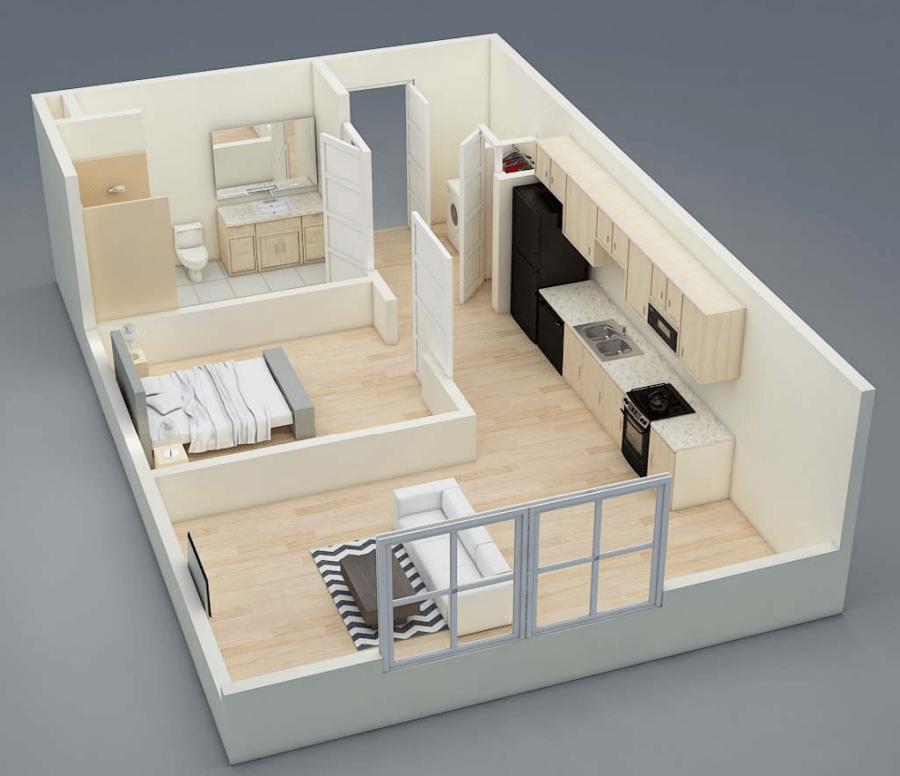 Studio 1 Bathroom Apartment for rent at Midtown Apartments in East Lansing, MI