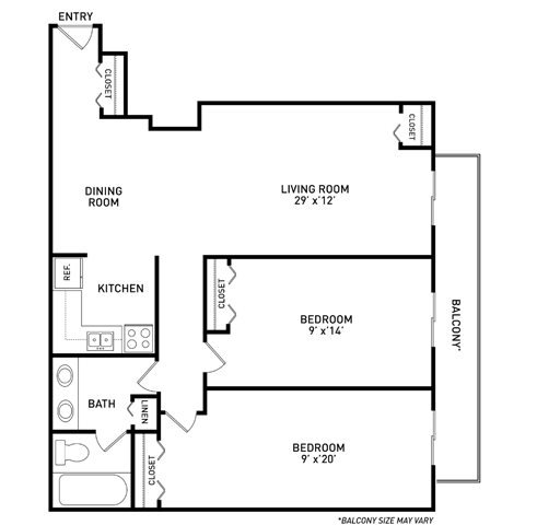 2 Bedrooms 1 Bathroom Apartment for rent at Haslett Arms Apartments in East Lansing, MI