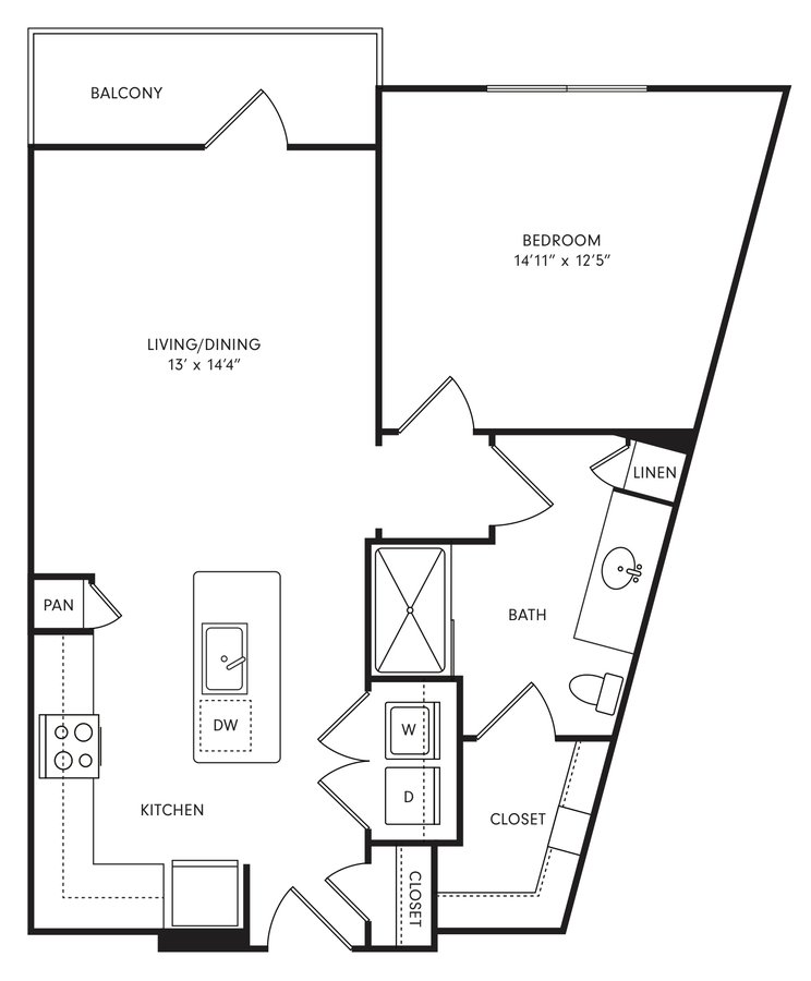 1 Bedroom 1 Bathroom Apartment for rent at Axis At The Rim Apartments in San Antonio, TX
