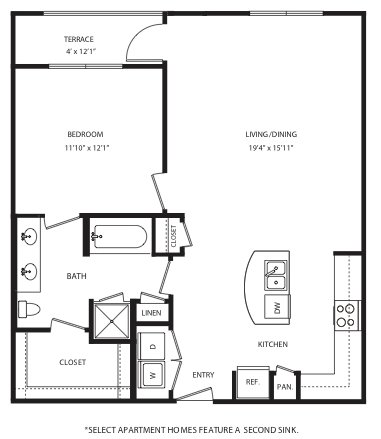 1 Bedroom 1 Bathroom Apartment for rent at Maple District Lofts in Dallas, TX