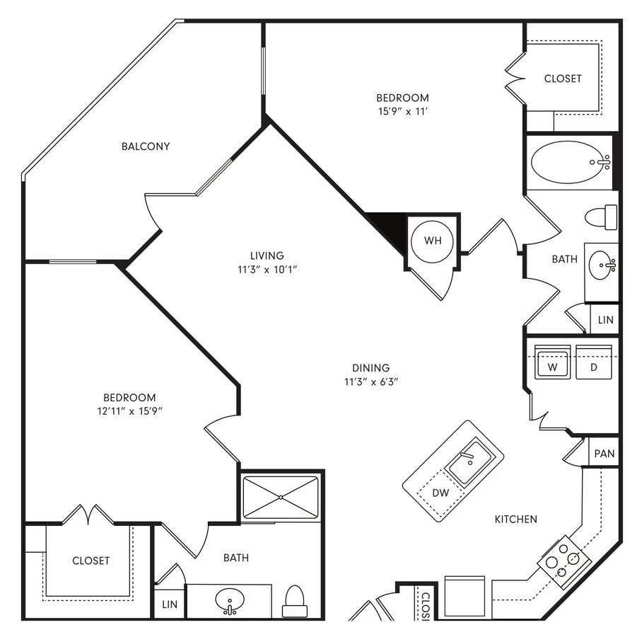 2 Bedrooms 2 Bathrooms Apartment for rent at Axis At The Rim Apartments in San Antonio, TX