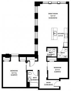 2 Bedrooms 2 Bathrooms Apartment for rent at Market Square Place in Pittsburgh, PA