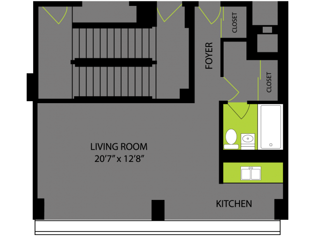 Studio 1 Bathroom Apartment for rent at Lake Meadows in Chicago, IL