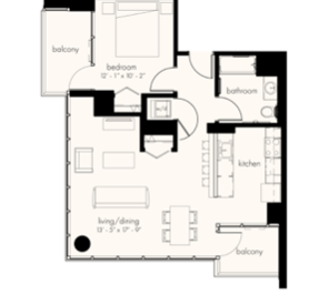 1 Bedroom 1 Bathroom Apartment for rent at The Gallery On Wells in Chicago, IL