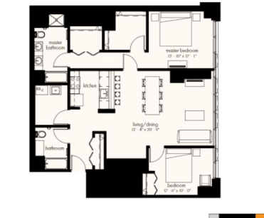 2 Bedrooms 2 Bathrooms Apartment for rent at The Gallery On Wells in Chicago, IL