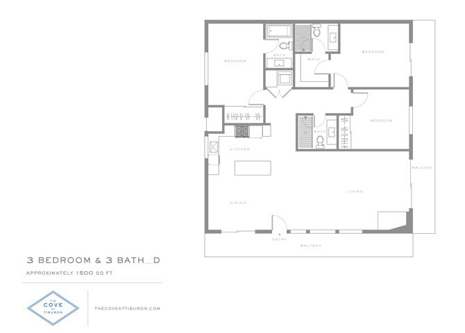 3 Bedrooms 3 Bathrooms Apartment for rent at The Cove At Tiburon in Tiburon, CA