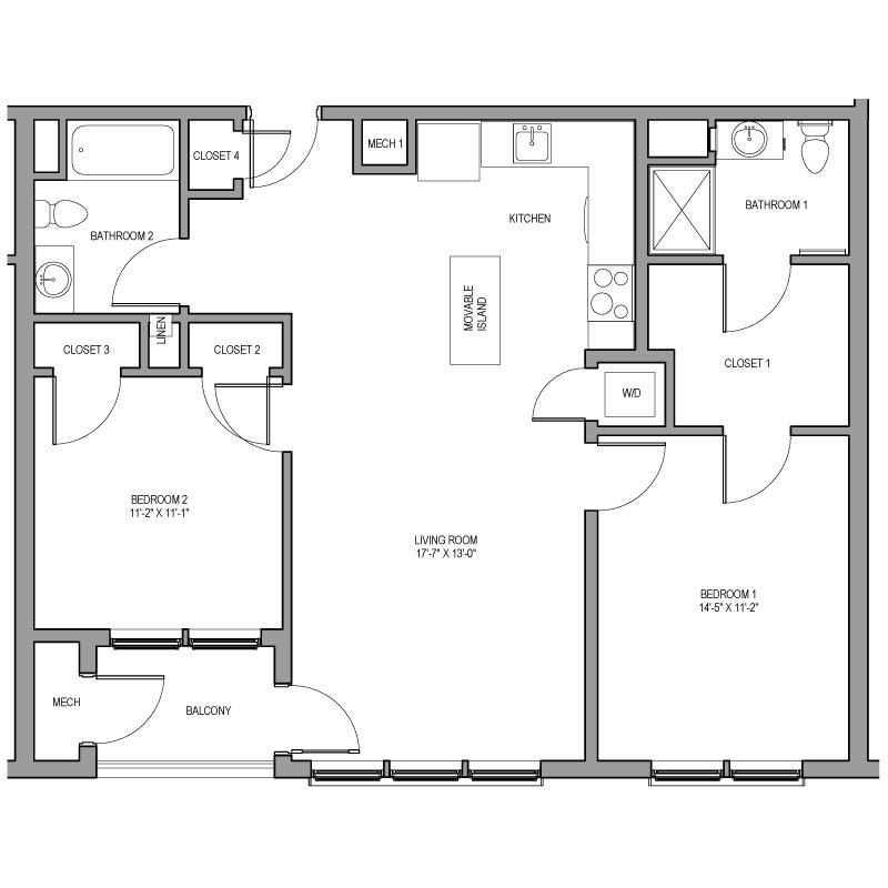 2 Bedrooms 2 Bathrooms Apartment for rent at Metromark in Boston, MA