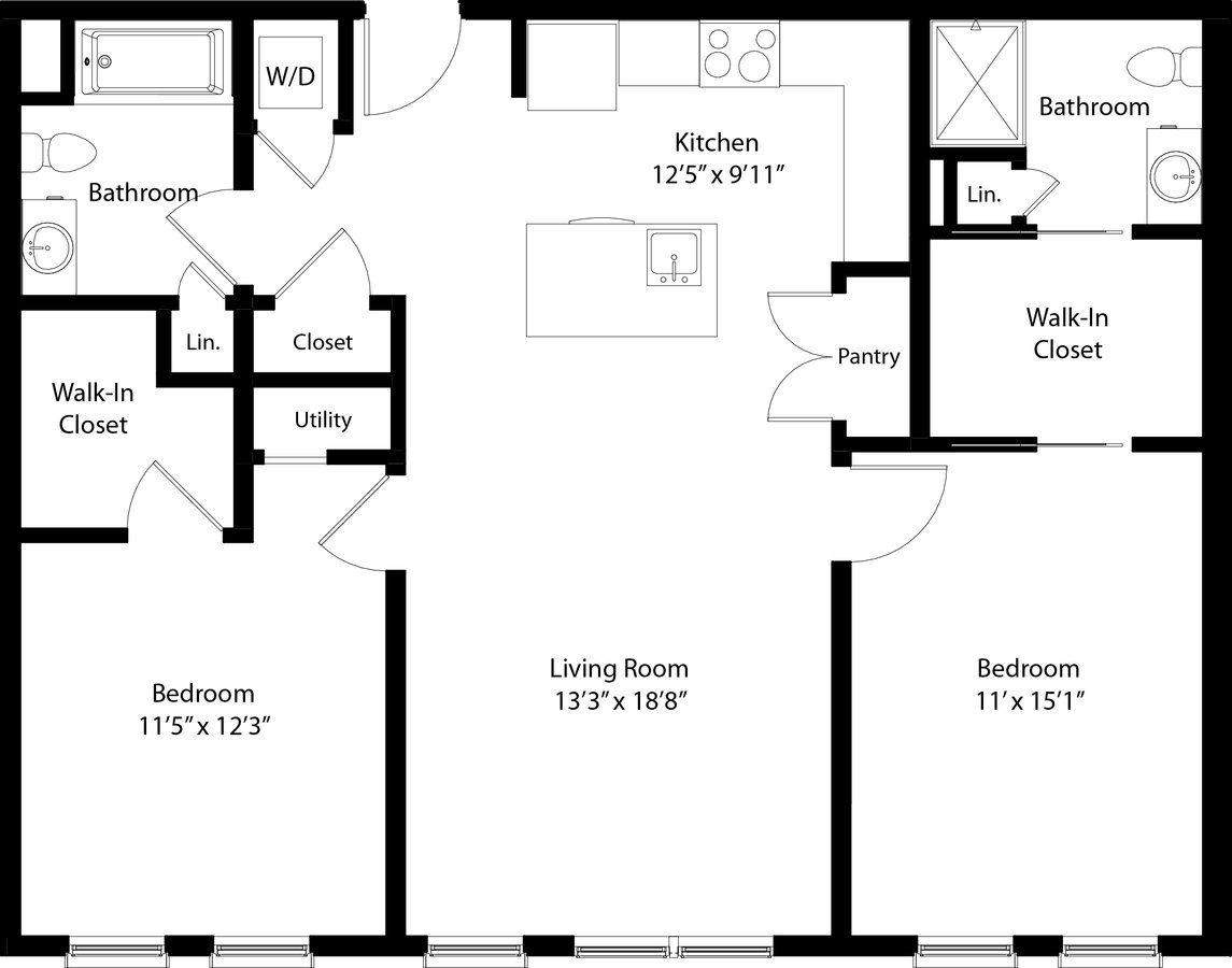 2 Bedrooms 2 Bathrooms Apartment for rent at The Mastlight in South Weymouth, MA