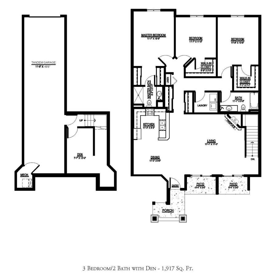 3 Bedrooms 2 Bathrooms Apartment for rent at The Orchard in Greenfield, WI
