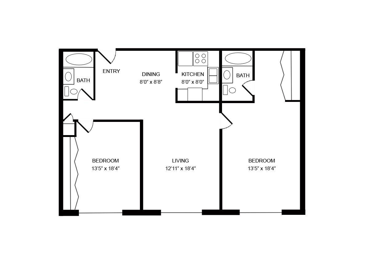 2 Bedrooms 2 Bathrooms Apartment for rent at Oakton Beach in Pewaukee, WI