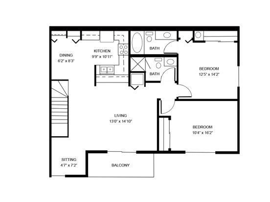 Studio 1 Bathroom Apartment for rent at Oakton Beach in Pewaukee, WI