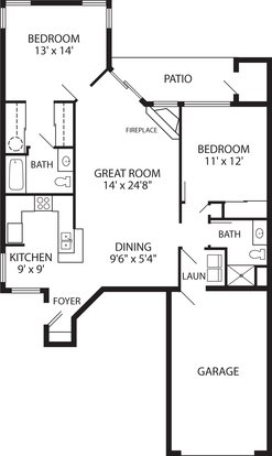 2 Bedrooms 2 Bathrooms Apartment for rent at The Sanctuary in New Berlin, WI