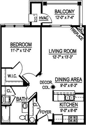 1 Bedroom 1 Bathroom Apartment for rent at Georgetown Square in Brookfield, WI