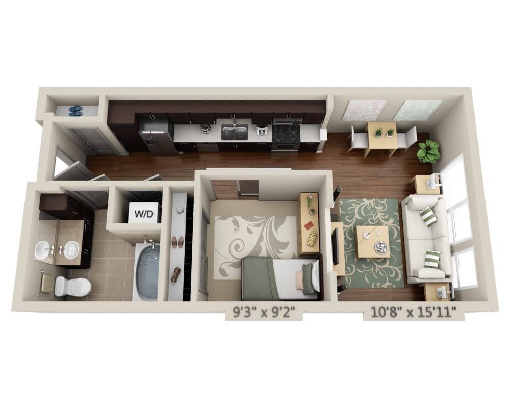 Studio 1 Bathroom Apartment For Rent At 13th U0026 Market In San Diego, ...