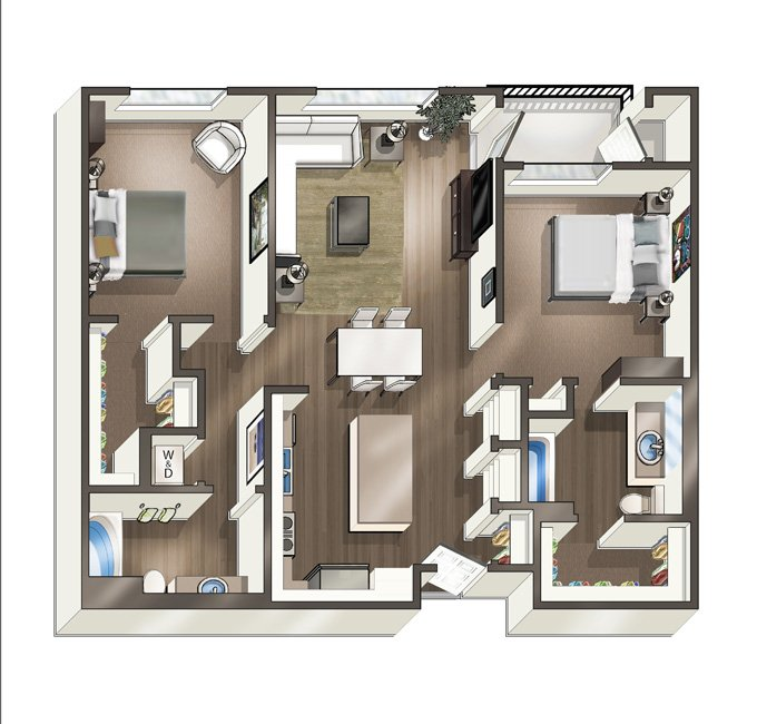 2 Bedrooms 2 Bathrooms Apartment for rent at Vive On The Park in San Diego, CA