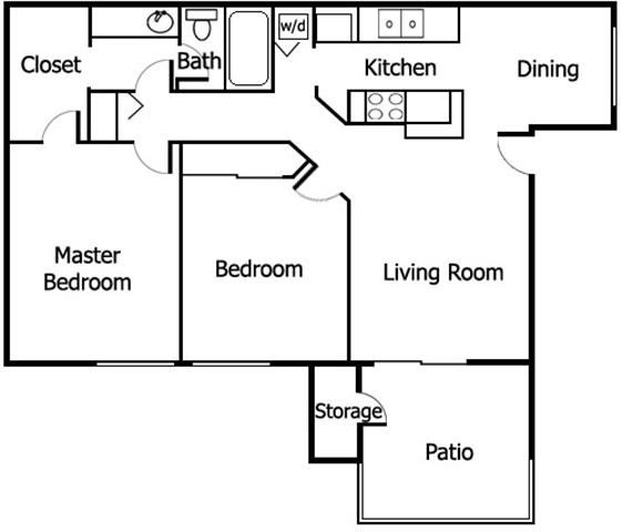 2 Bedrooms 1 Bathroom Apartment for rent at Adagio in San Diego, CA