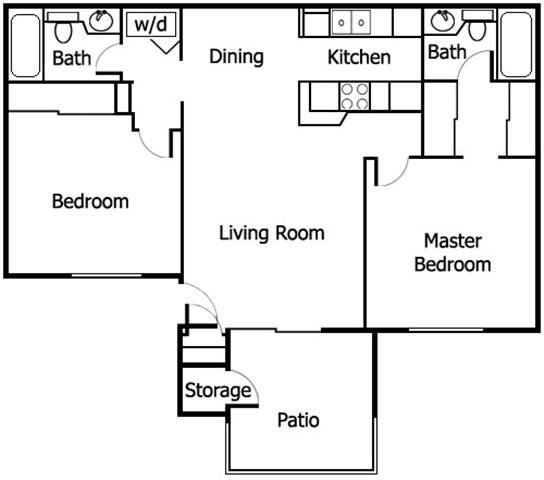 2 Bedrooms 2 Bathrooms Apartment for rent at Adagio in San Diego, CA
