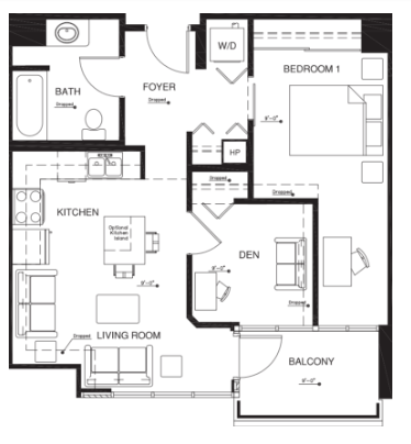 1 Bedroom 1 Bathroom Apartment for rent at Vantage Pointe Apartments in San Diego,