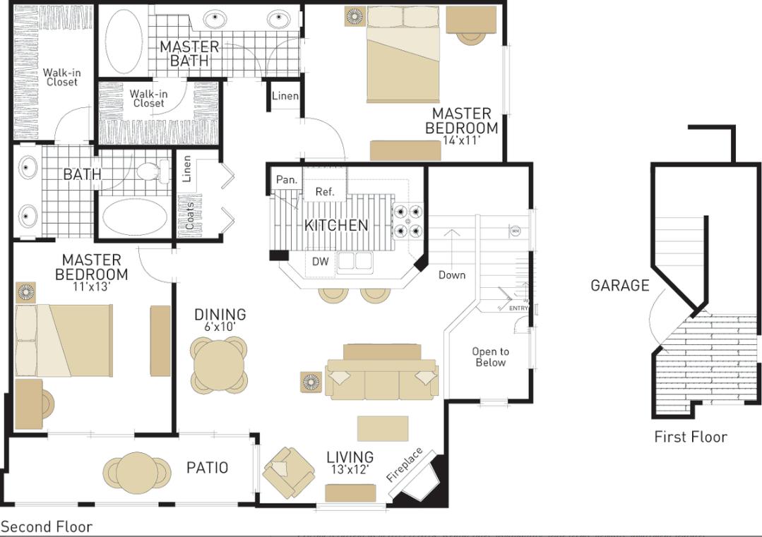 2 Bedrooms 2 Bathrooms Apartment for rent at Torrey Villas in San Diego, CA