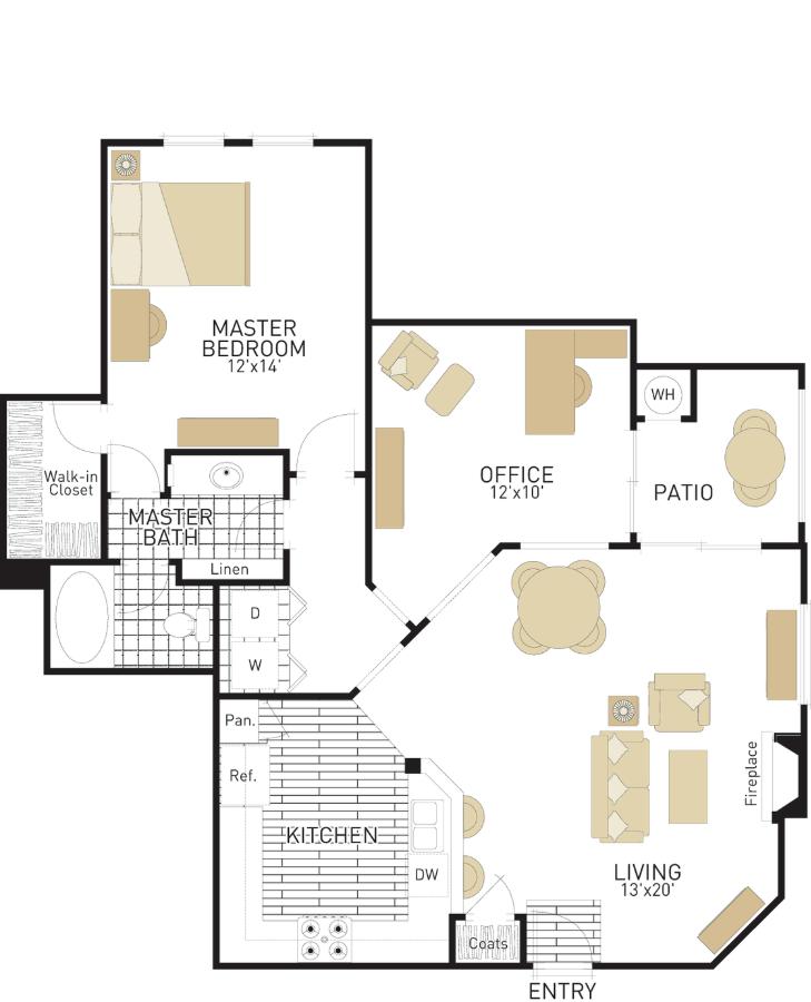1 Bedroom 1 Bathroom Apartment for rent at Torrey Villas in San Diego, CA