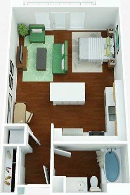 Studio 1 Bathroom Apartment for rent at Westpark in San Diego, CA