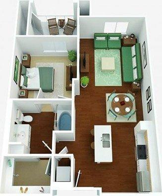1 Bedroom 1 Bathroom Apartment for rent at Westpark in San Diego, CA