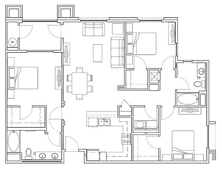 3 Bedrooms 2 Bathrooms Apartment for rent at Anton La Moraga Apartments in San Jose, CA