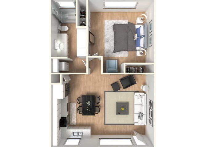 1 Bedroom 1 Bathroom Apartment for rent at The Parc At Pruneyard in Campbell, CA