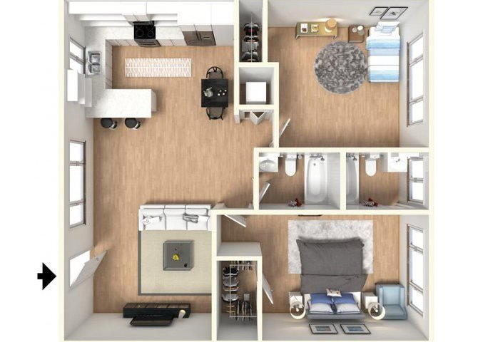 2 Bedrooms 2 Bathrooms Apartment for rent at The Parc At Pruneyard in Campbell, CA