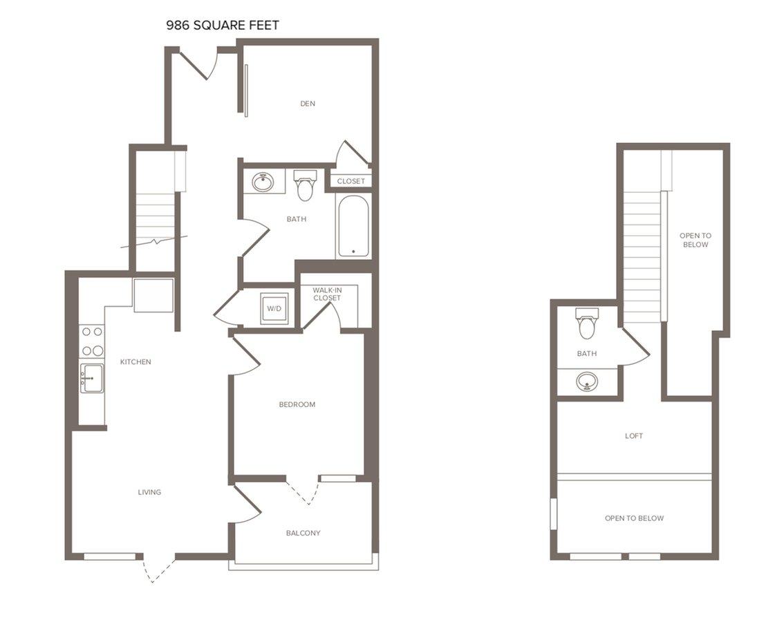 2 Bedrooms 1 Bathroom Apartment for rent at Modera The Alameda in San Jose, CA