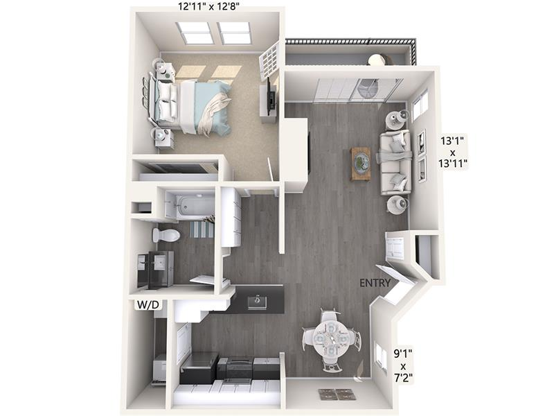 1 Bedroom 1 Bathroom Apartment for rent at Avalon On The Alameda in San Jose, CA