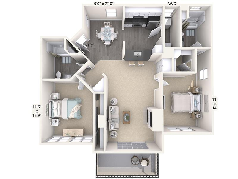 2 Bedrooms 2 Bathrooms Apartment for rent at Avalon On The Alameda in San Jose, CA