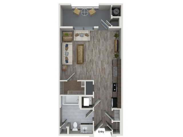 Studio 1 Bathroom Apartment for rent at 808 West in San Jose, CA