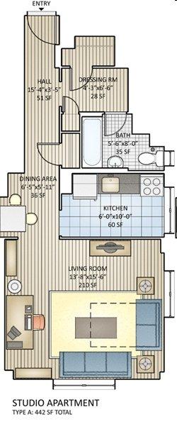 Studio 1 Bathroom Apartment for rent at Regency Village in Philadelphia, PA
