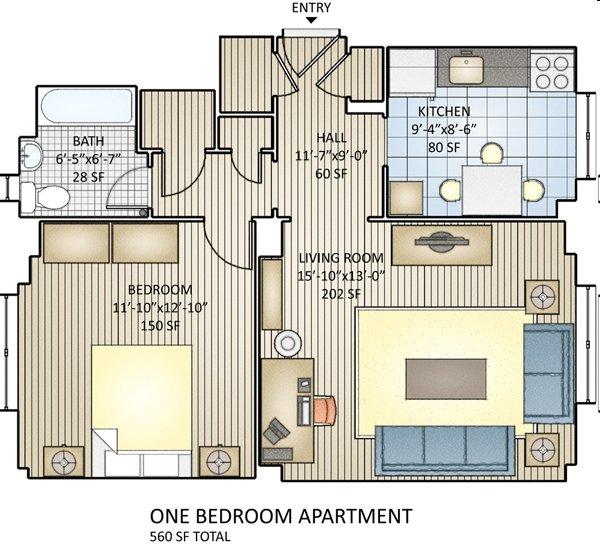 1 Bedroom 1 Bathroom Apartment for rent at Regency Village in Philadelphia, PA