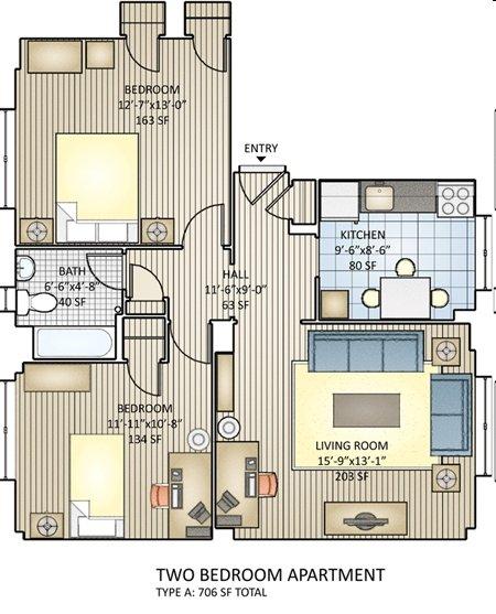 2 Bedrooms 1 Bathroom Apartment for rent at Regency Village in Philadelphia, PA