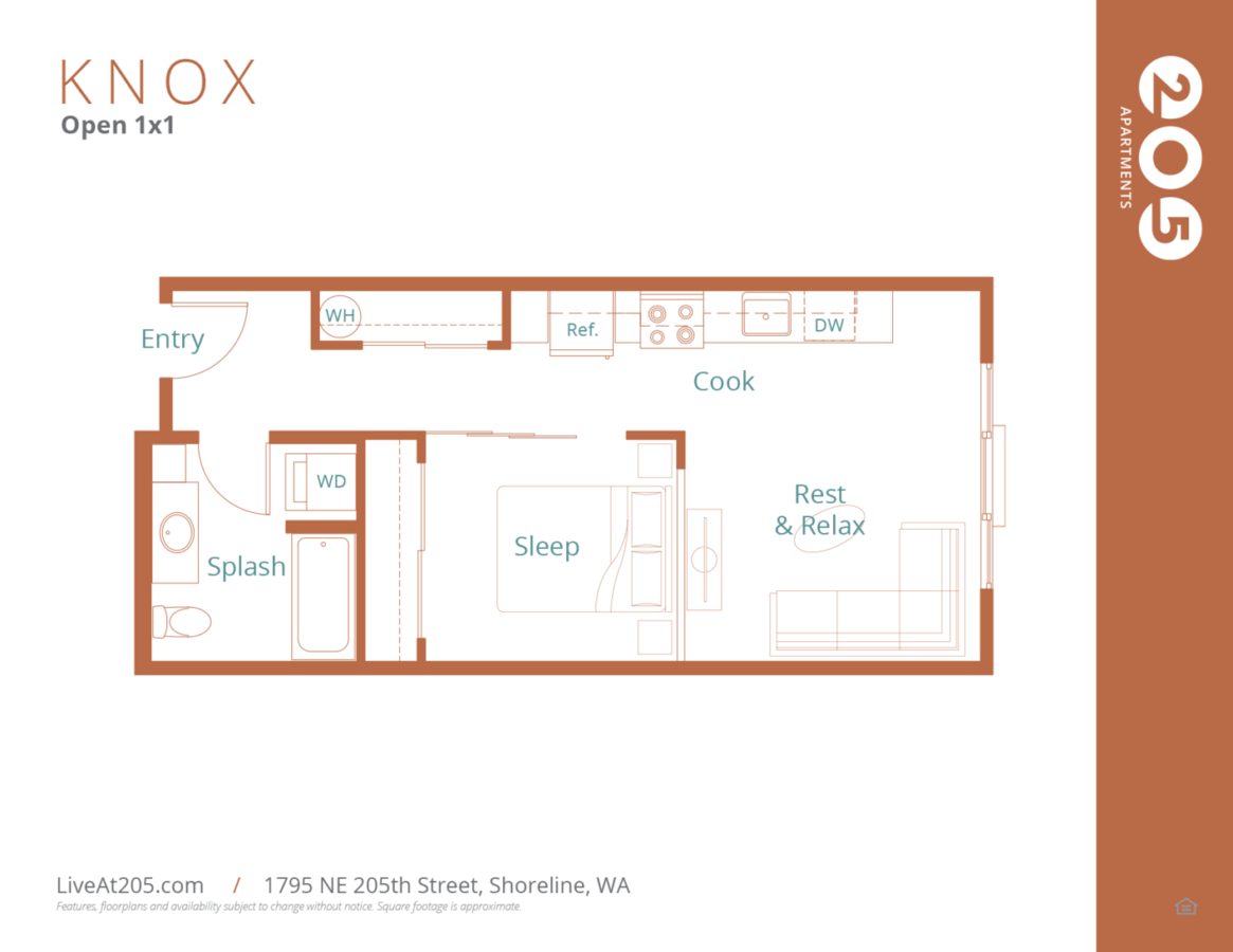 1 Bedroom 1 Bathroom Apartment for rent at Live At 205 in Shoreline, WA