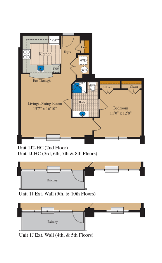 1 Bedroom 1 Bathroom Apartment for rent at The Residences At Capital Crescent Trail in Bethesda, MD