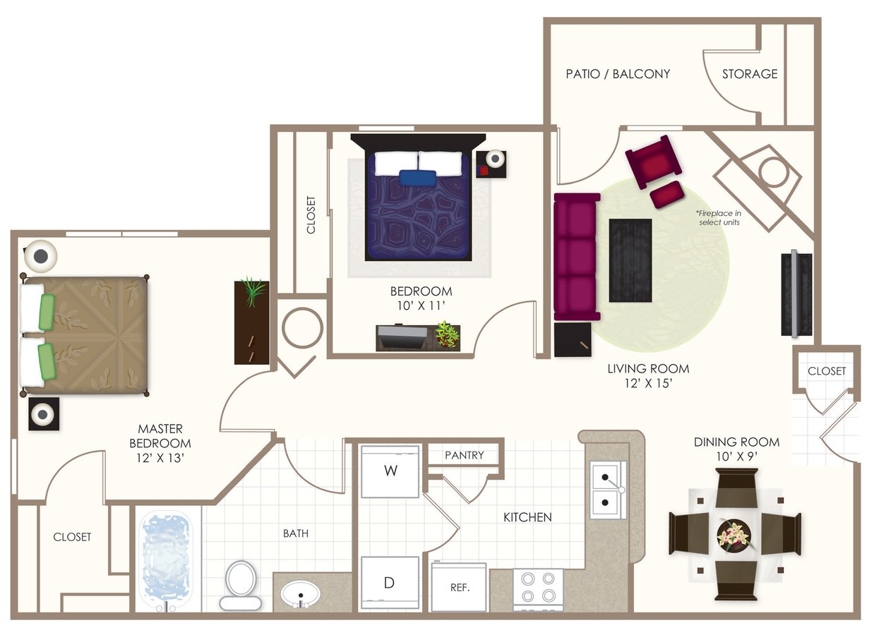 2 Bedrooms 1 Bathroom Apartment for rent at Summerwood On Towne Line in Indianapolis, IN