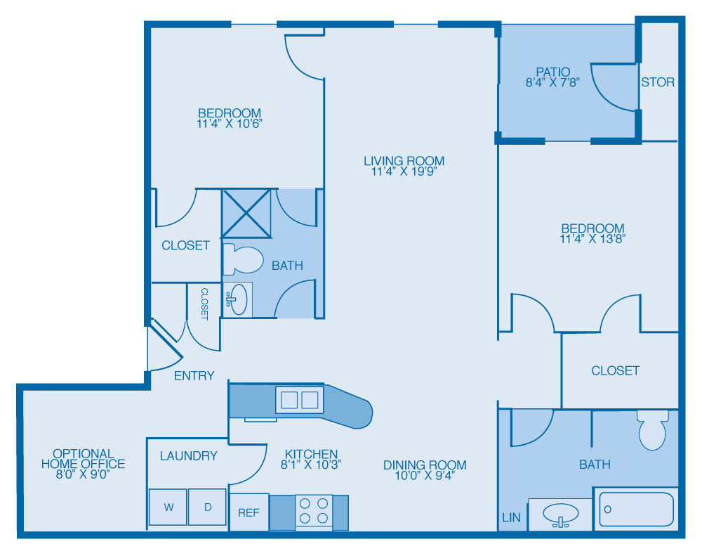 2 Bedrooms 2 Bathrooms Apartment for rent at Glenmary Village Apartments in Louisville, KY